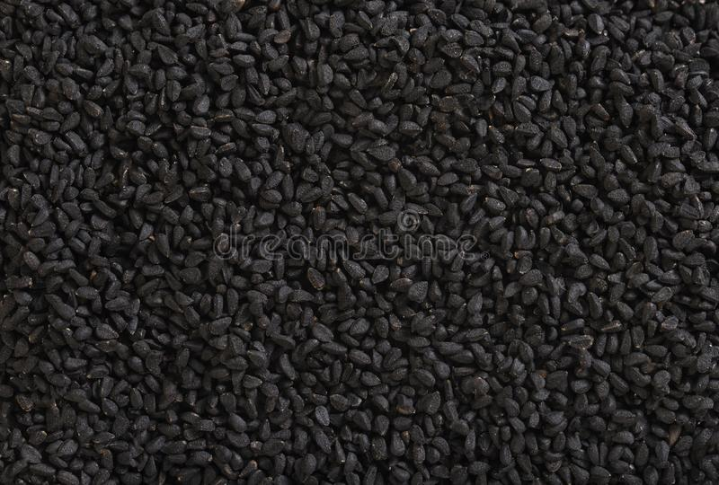 Black cumin background stock photography
