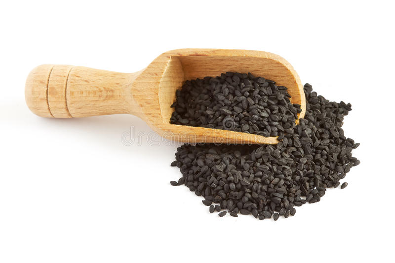Black cumin seed royalty free stock photo