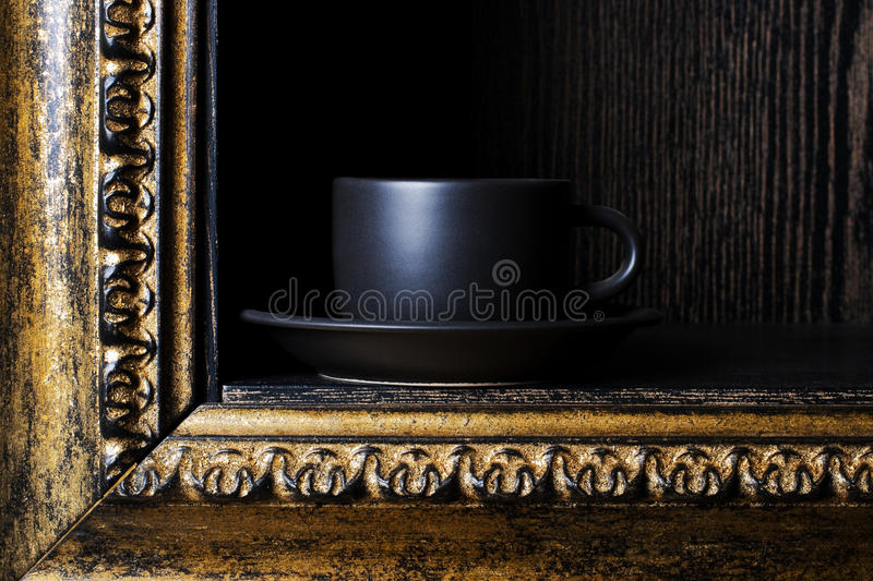 Download Black cup stock image. Image of images, ornate, house - 13099451
