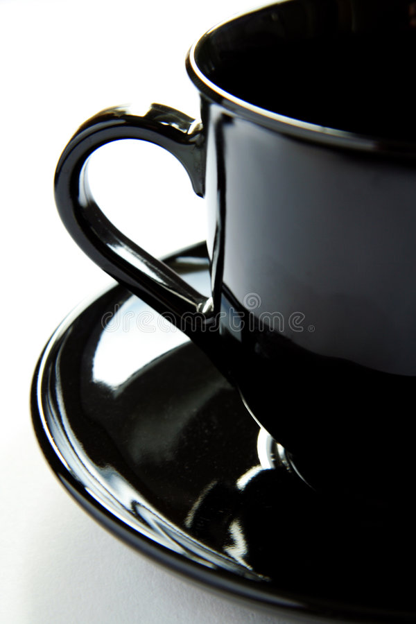 Black cup stock images