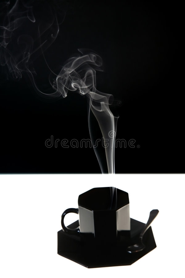 Download Black cup with fume stock illustration. Image of energy - 4738208