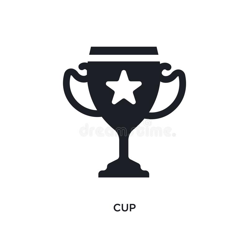 black cup isolated vector icon. simple element illustration from football concept vector icons. cup editable black logo symbol vector illustration