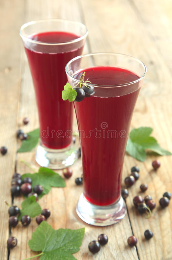 Black currant juice stock images