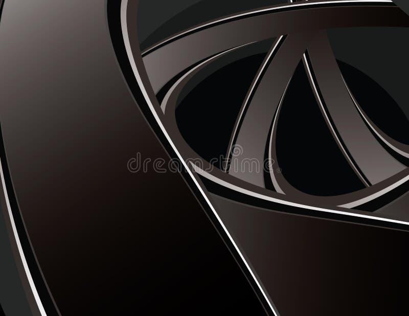 Black curve background stock illustration