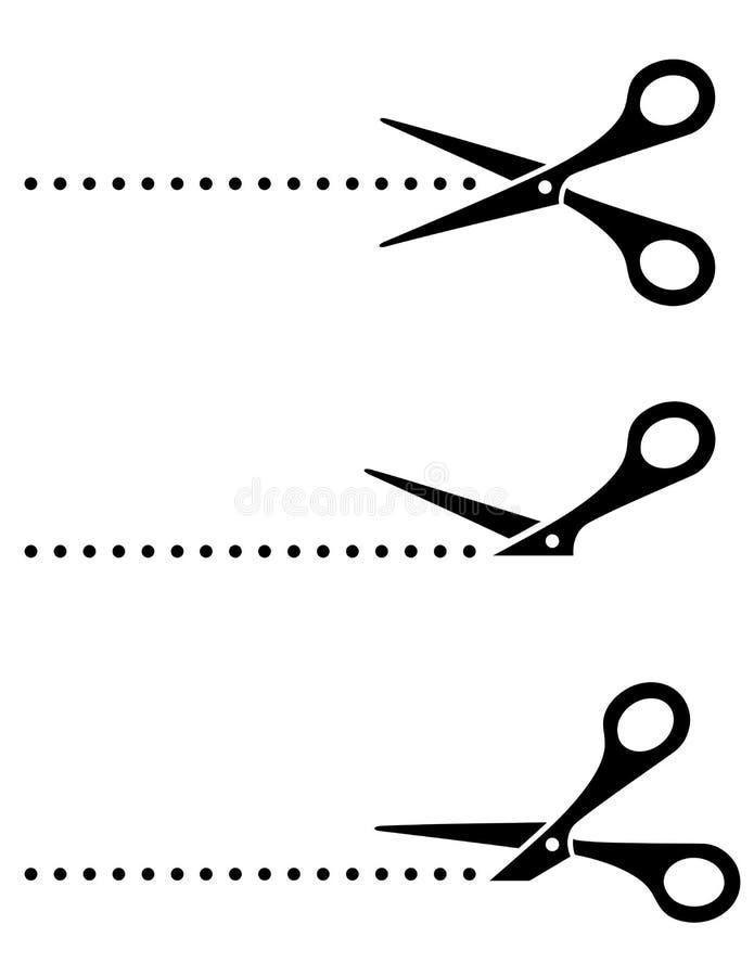Black cutting scissors royalty free illustration