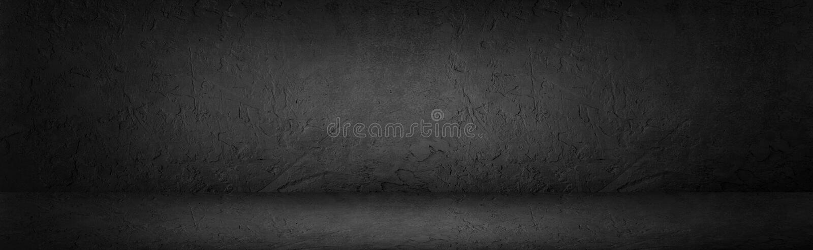 Black or dark grey abstract stone background, wall, studio room royalty free stock image