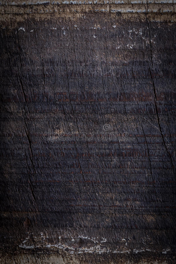 Black dark wood background, wooden board rough grain surface. Texture royalty free stock photos
