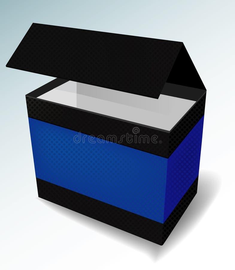 Download Black Deluxe Packaging stock vector. Image of empty, blue - 6766182