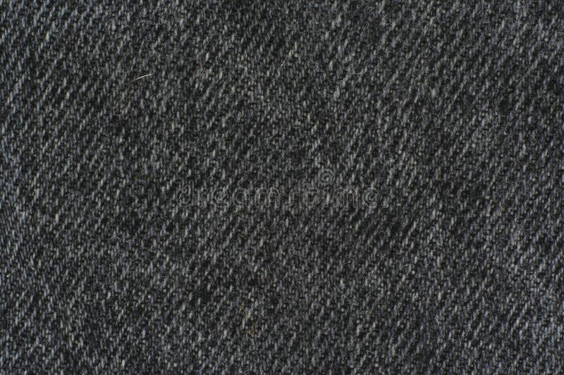 Black denim texture. Real macro af black denim texture - great details royalty free stock photo