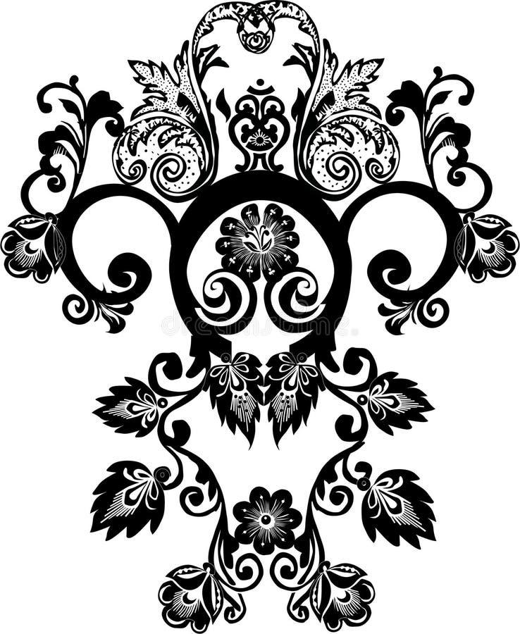 Black design foliage royalty free illustration