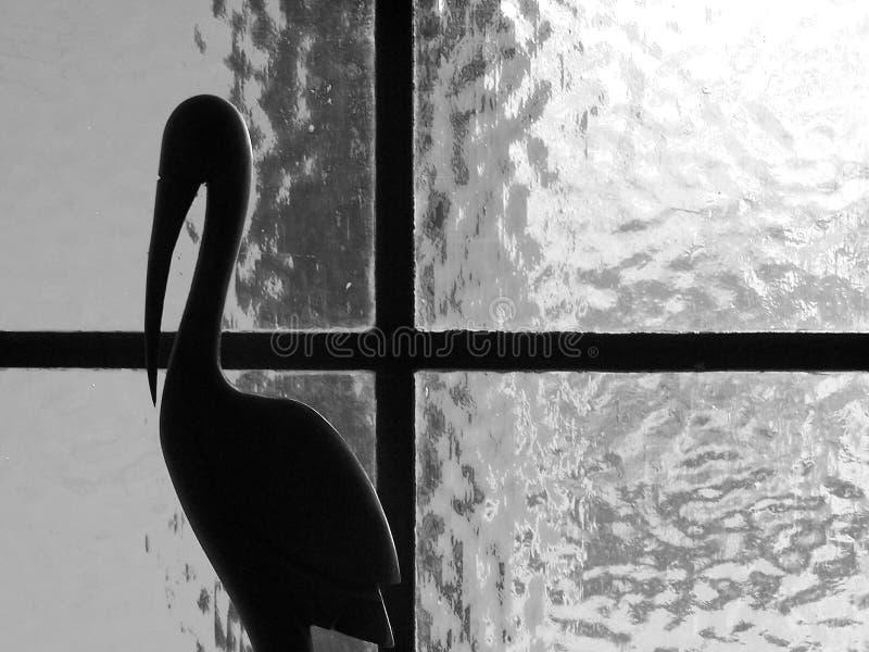 black det vita fönstret arkivbilder