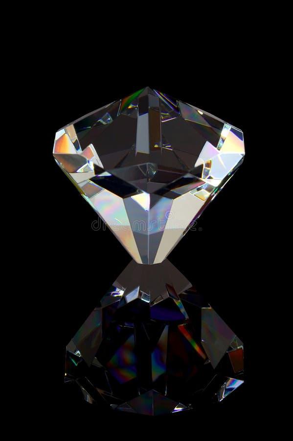 black diamantreflexionen fotografering för bildbyråer