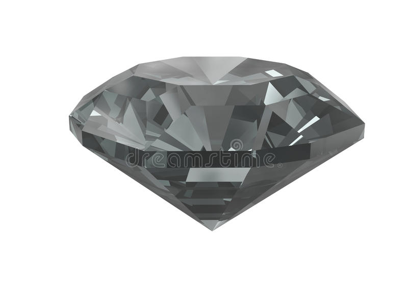 Black diamond isolated on white