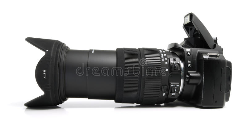 Download Black digital camera stock photo. Image of technology - 12218794