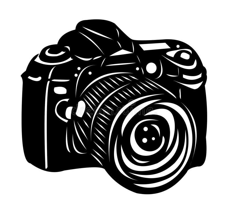 Black digital camera royalty free illustration