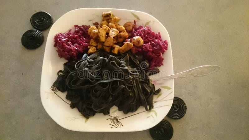 Black dinner stock photography