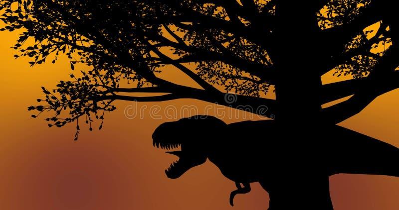Black Tree Dinosaur