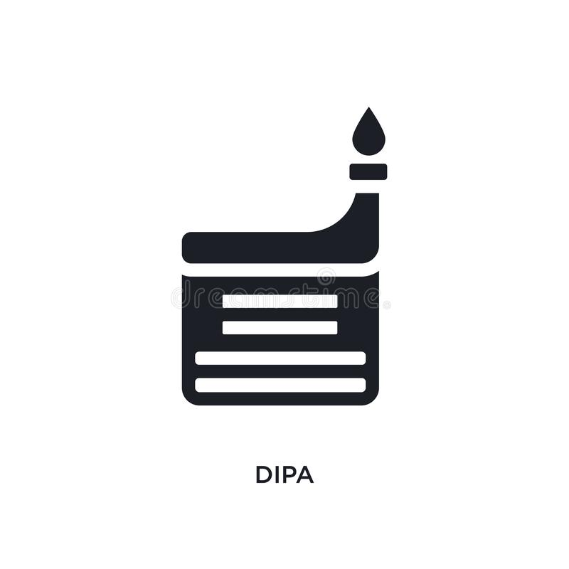 black dipa isolated vector icon. simple element illustration from religion concept vector icons. dipa editable logo symbol design stock illustration