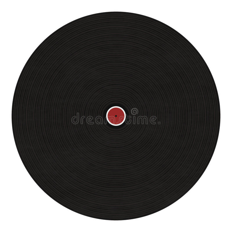 Download Black disc stock illustration. Image of background, audio - 16871697
