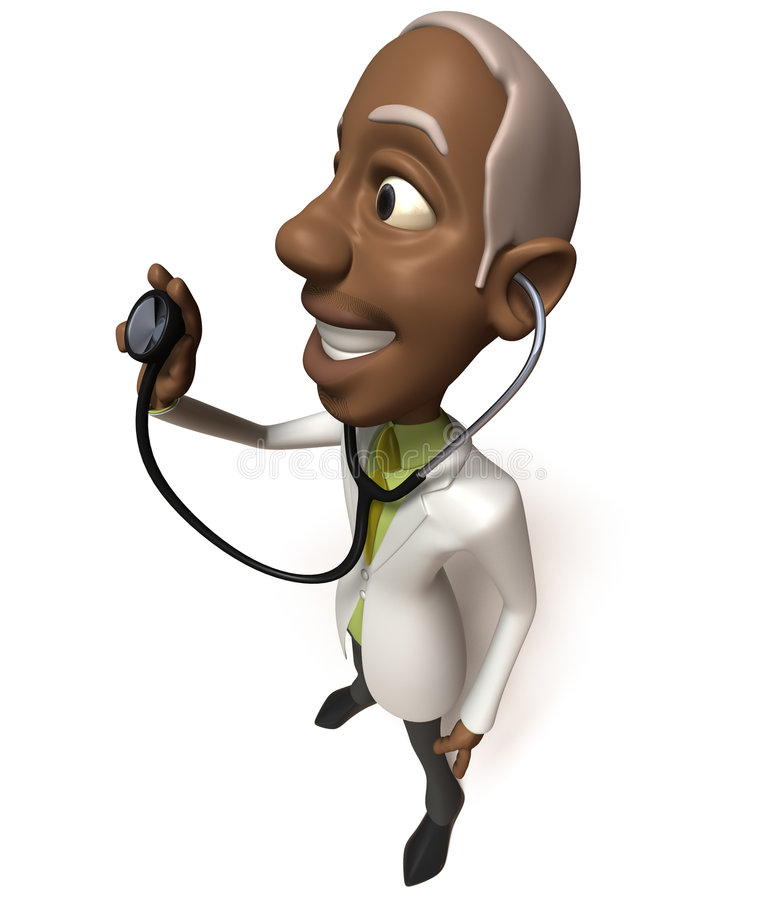 Download Black doctor stock illustration. Illustration of examine - 4588349