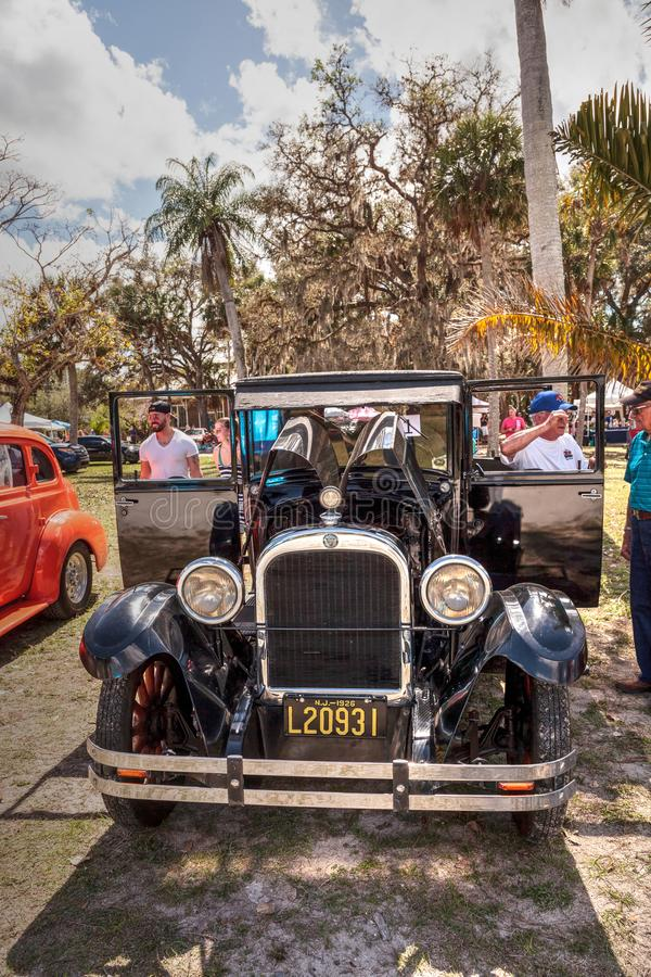 Black 1929 Dodge Brothers Model B at the 10th Annual Classic Car and Craft Show royalty free stock photo