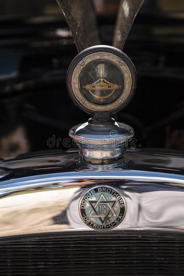 Black 1929 Dodge Brothers Model B at the 10th Annual Classic Car and Craft Show stock images