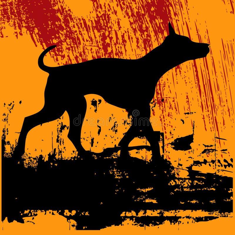 Black Dog Grunge vector illustration