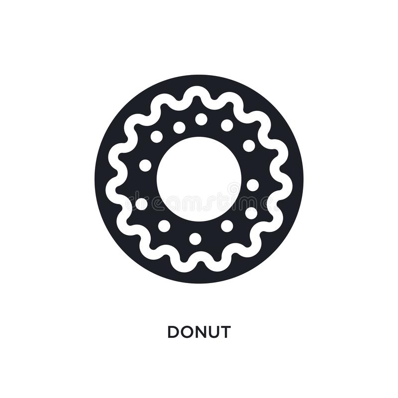 black donut isolated vector icon. simple element illustration from united states concept vector icons. donut editable logo symbol stock illustration