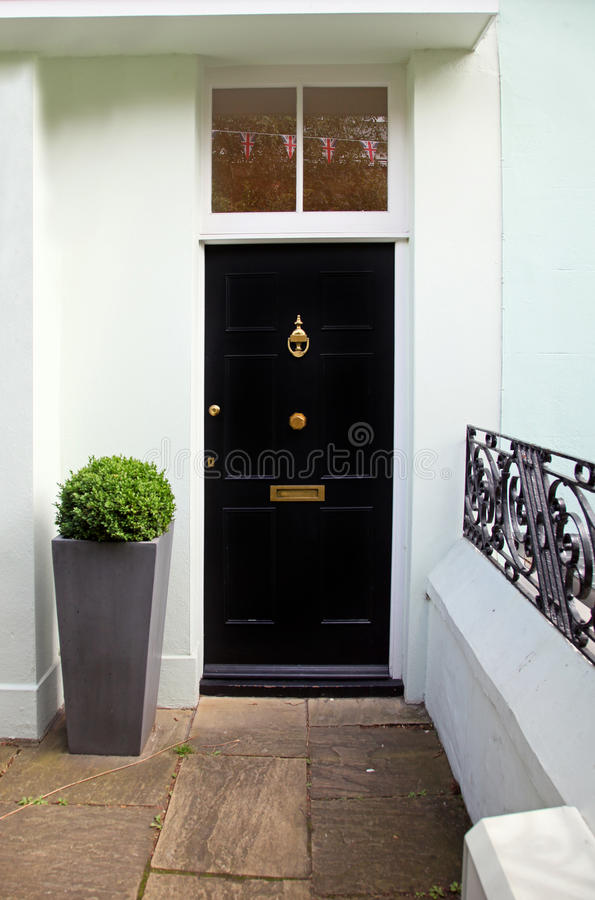 Download Black door stock image. Image of home, architecture, front - 27237095