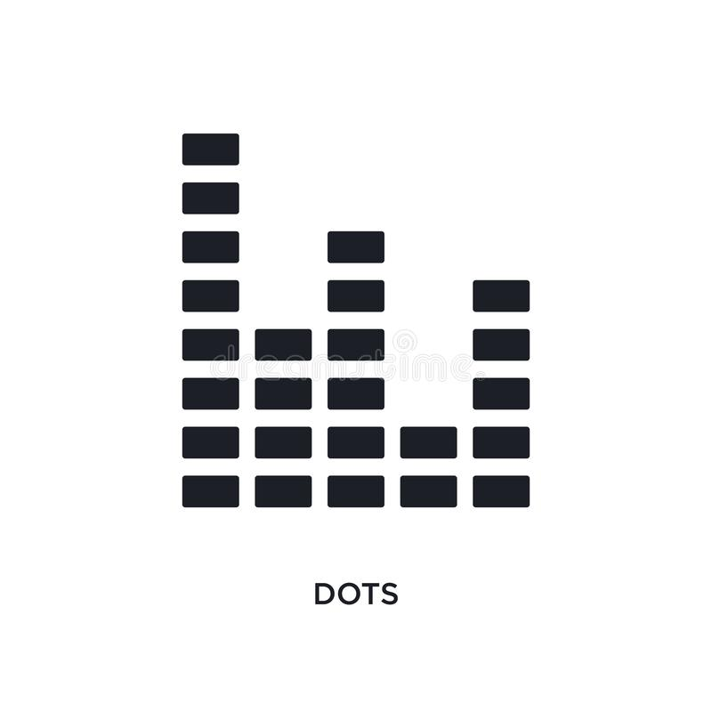 black dots isolated vector icon. simple element illustration from infographics concept vector icons. dots editable logo symbol vector illustration