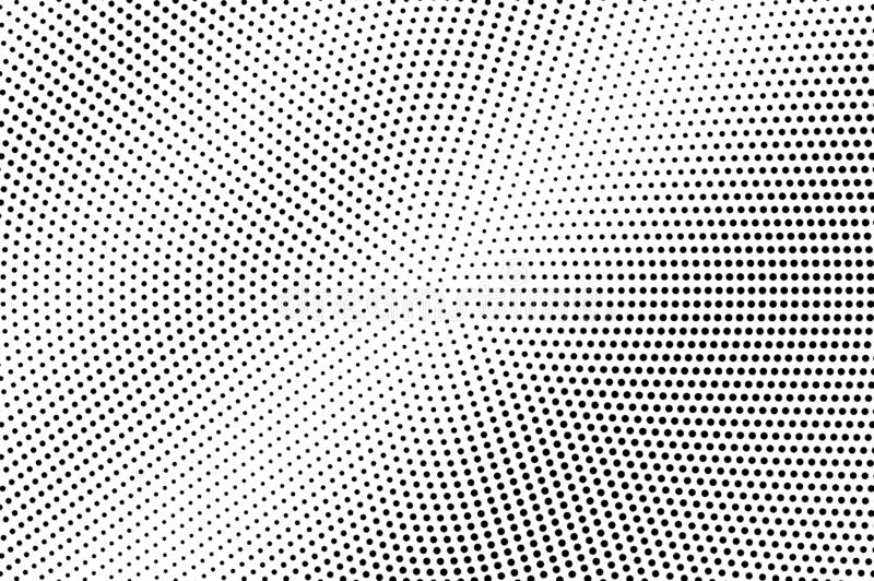 Black dots on white background. Abstract perforated surface. Faded halftone vector texture. Small dotwork gradient stock illustration