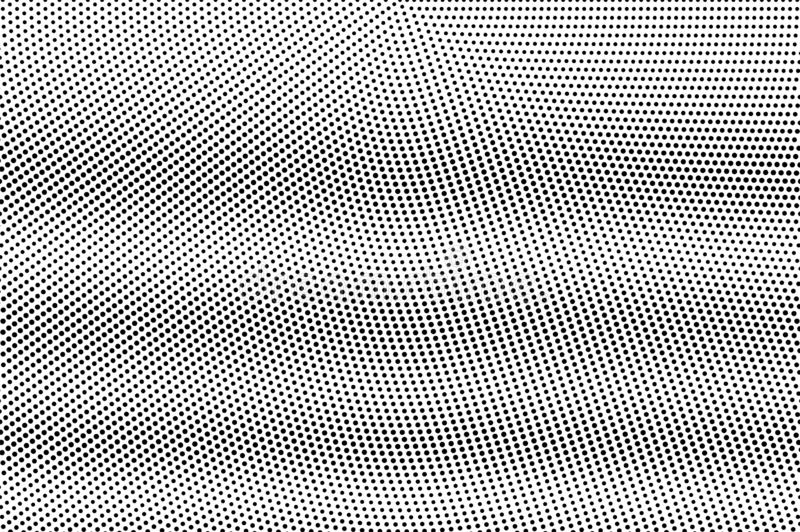 Black dots on white background. Textured perforated surface. Faded halftone vector texture. Horizontal dotwork gradient royalty free illustration
