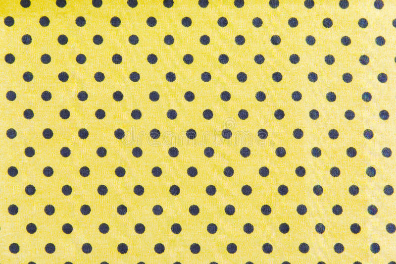 Download Black Dots On Yellow Background Stock Photo - Image: 30589270
