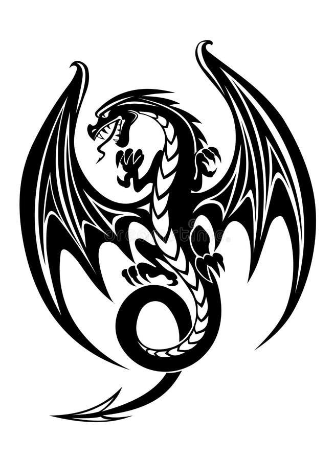 Black dragon stock vector. Illustration of china, japan ...