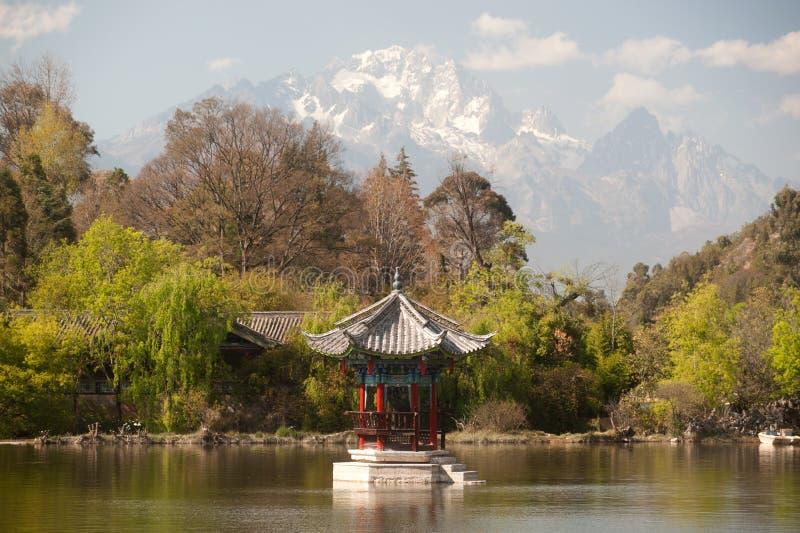 Black Dragon Pool in Lijiang,Yunnan in Southwestern of China. royalty free stock photography