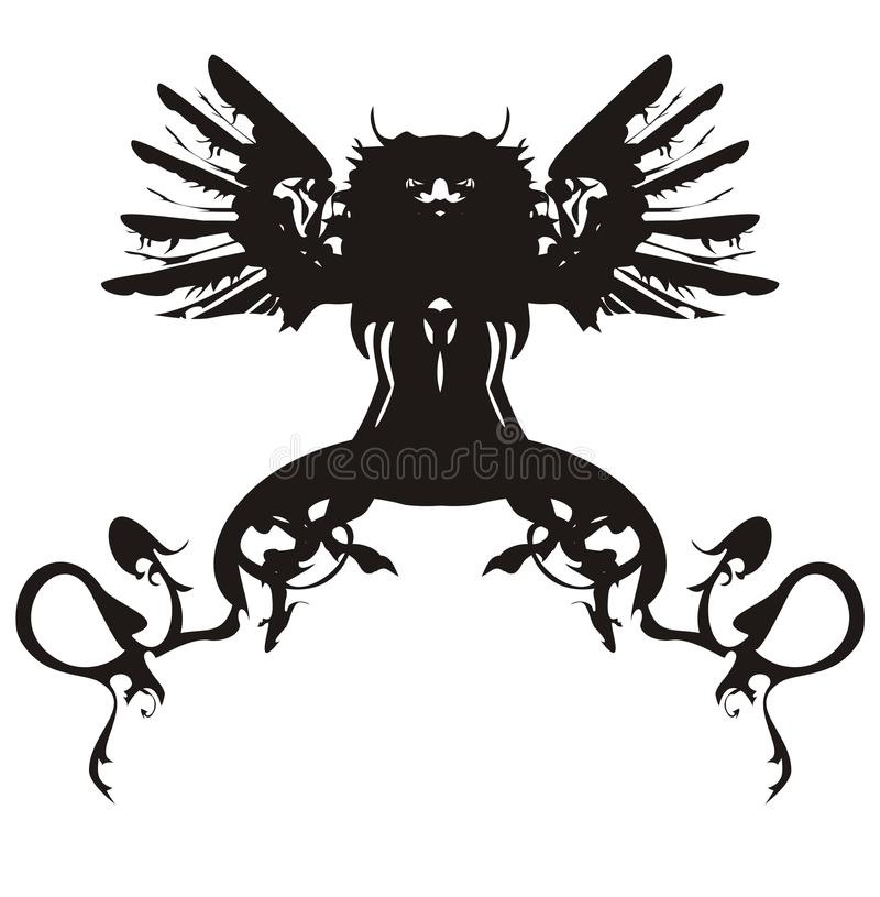 Black dragon symbol royalty free illustration
