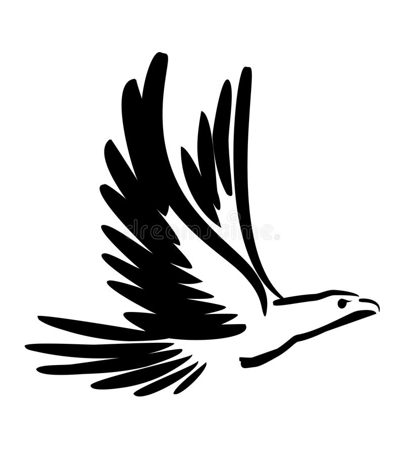 Free Black Draw Of A Bird Royalty Free Stock Photography - 12903487