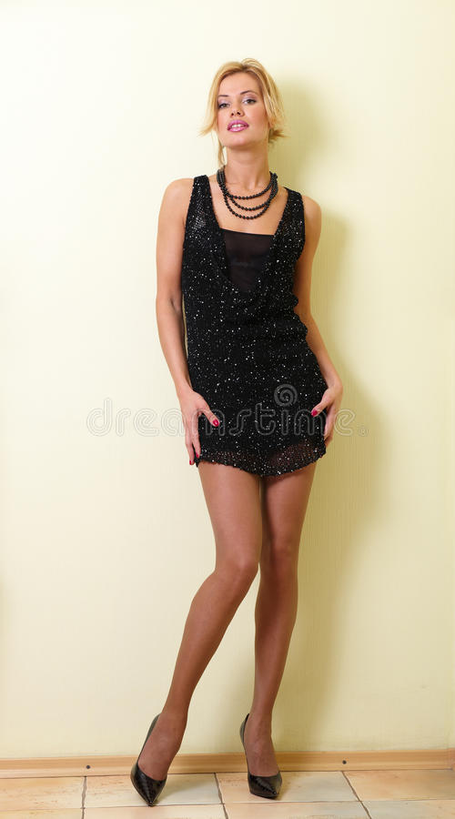 Download Black dress stock image. Image of young, woman, elegance - 10426553