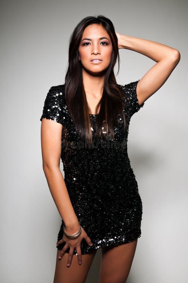 Download Black dress stock image. Image of black, woman, long - 23221453