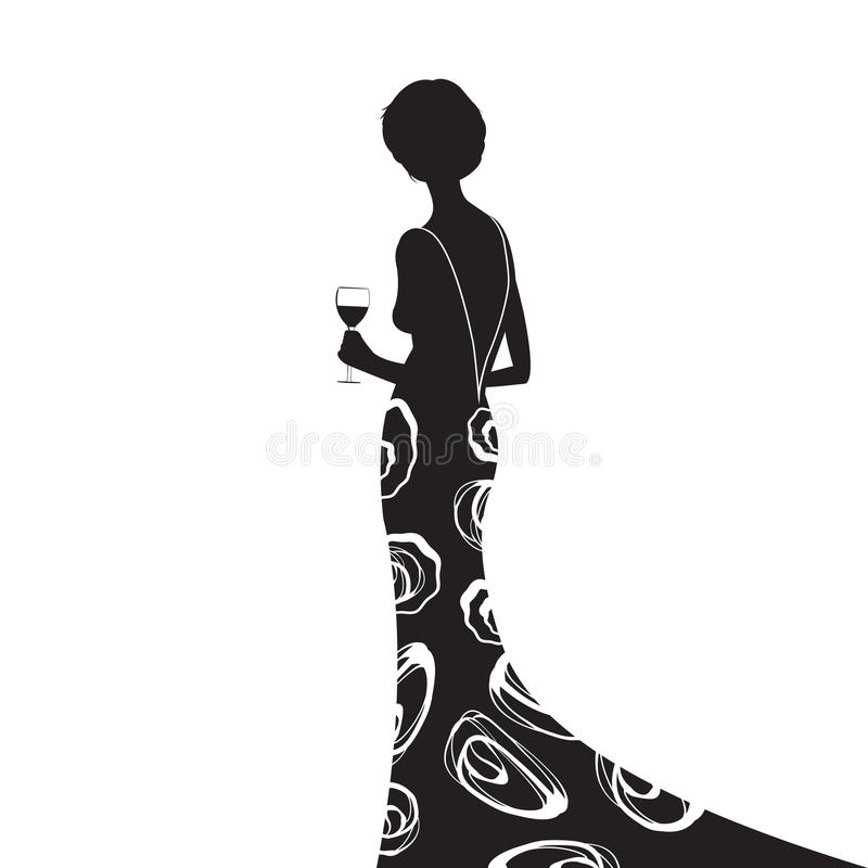 The Black Dress royalty free illustration