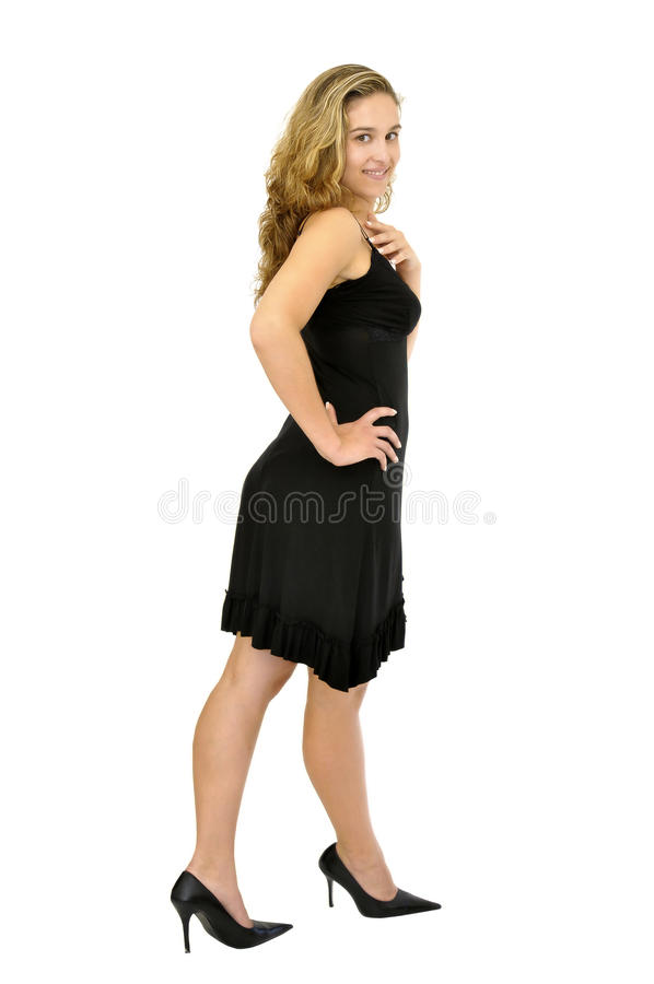 Black Dress Girl Royalty Free Stock Photography