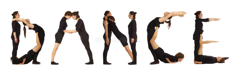 Download Black Dressed People Forming DANCE Word Stock Image - Image: 26079607