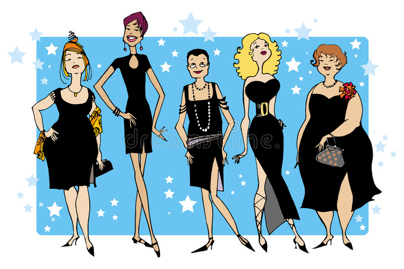 Black dresses vector illustration