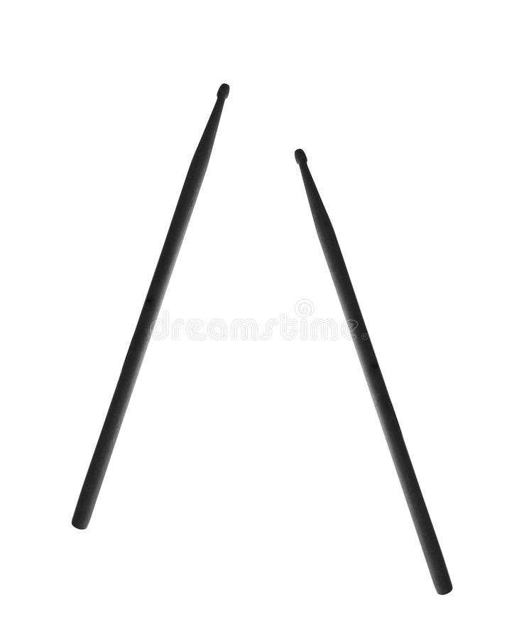 Black drumsticks isolated royalty free stock image