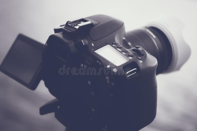 Black Dslr Camera royalty free stock images