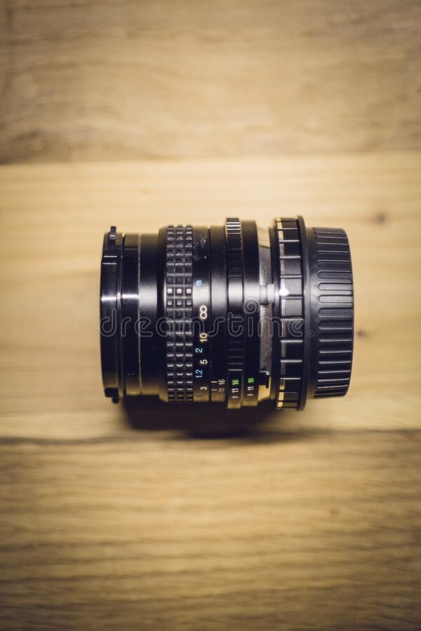 Black Dslr Camera Lens royalty free stock images