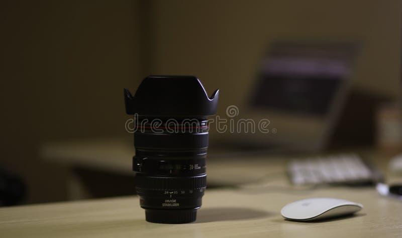 Black Dslr Camera Lens royalty free stock image