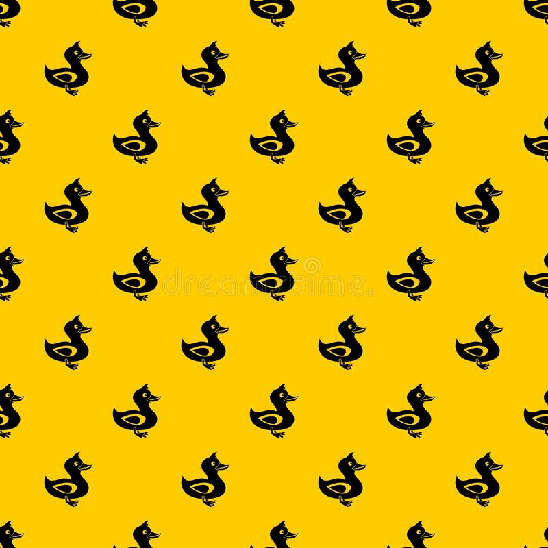 Black duck pattern vector. Black duck pattern seamless vector repeat geometric yellow for any design royalty free illustration