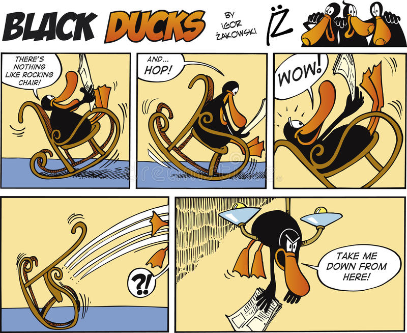 Black Ducks Comic Strip episode 2 royalty free illustration