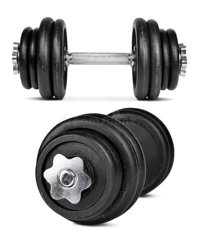 Download Black dumbbells stock photo. Image of physical, health - 38801744